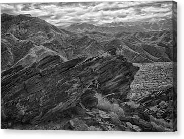 Where Andreas Meets Murray Bw 1 Canvas Print by Scott Campbell
