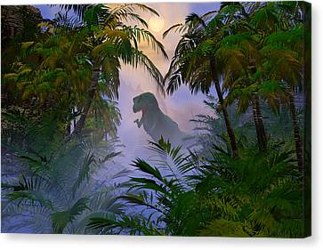 Canvas Print featuring the digital art Where Are You by Claude McCoy