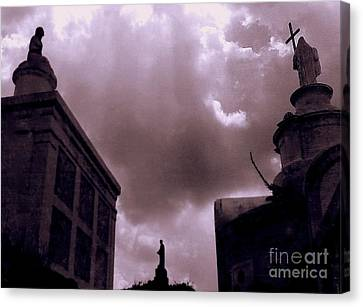 New Orleans French Quarter NIGHT SPIRITS print by Richard Lewis Cemetery Ghosts