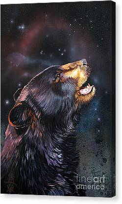 Indigenous Wildlife Canvas Print - Where Do I Belong Now by J W Baker