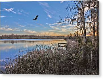 Where Eagles Fly Canvas Print by Donnie Smith