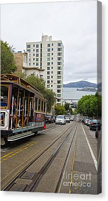 Where Little Cable Cars... Canvas Print