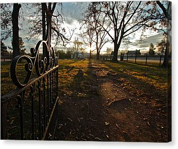 Carnton Plantation Canvas Print - Where Rests The Weary Widow by Kim Kruger
