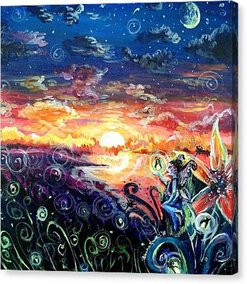 Canvas Print featuring the painting Where The Fairies Play by Shana Rowe Jackson
