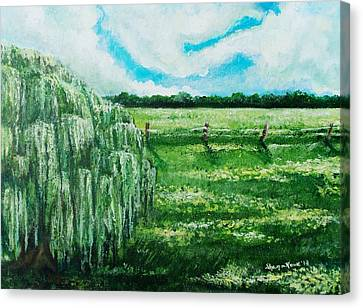 Where The Green Grass Grows Canvas Print by Shana Rowe Jackson