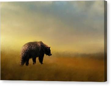 A Hot Summer Day Canvas Print - Where The Grizzly Roams by Jai Johnson