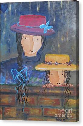 Canvas Print featuring the painting Where The Heart Is. by Nereida Rodriguez