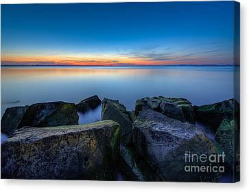 Where The Smooth Meets The Rough Canvas Print by Michael Ver Sprill