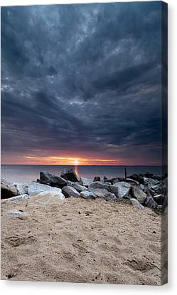 Where There Is Smoke There Is Fire Canvas Print by Edward Kreis