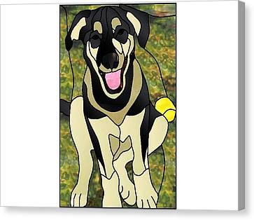 Where's The Ball Canvas Print by Merrie Giles
