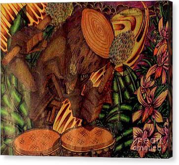 Tiki Canvas Print - Where's Tiki Now? Hawaii by Frankie  Caron
