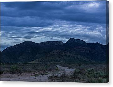 Canvas Print featuring the photograph Whetstones At Dusk by Beverly Parks