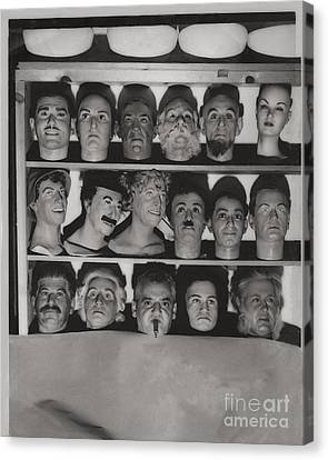 Which Is The Real Ventriloquist Head - Hollywood 1951 Canvas Print