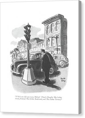 Which One Did You Want Canvas Print by Robert J. Day