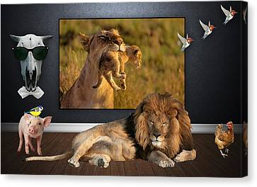 While The Lion Sleeps Tonight Canvas Print by Marvin Blaine