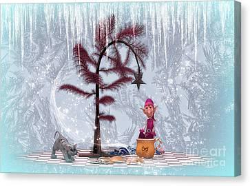 Whimsical Christmas Canvas Print by Jutta Maria Pusl
