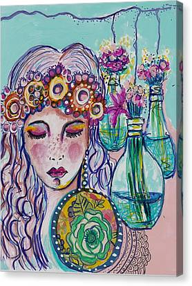 Whimsical Hippie Girl Canvas Print