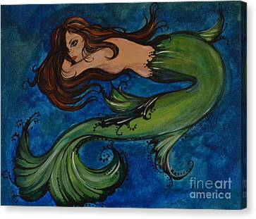 Whimsical Mermaid Canvas Print by Valarie Pacheco
