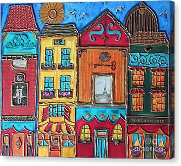Whimsical Street In Paris 1 Canvas Print