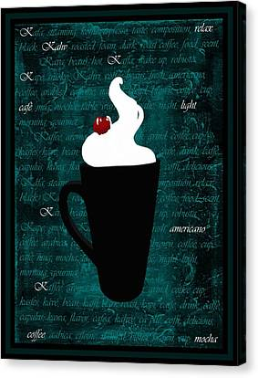 Whipped Cream Coffee Canvas Print by Barbara St Jean