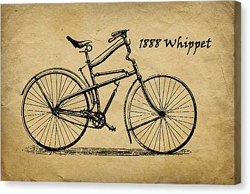 Whippet Bicycle Canvas Print by Tom Mc Nemar