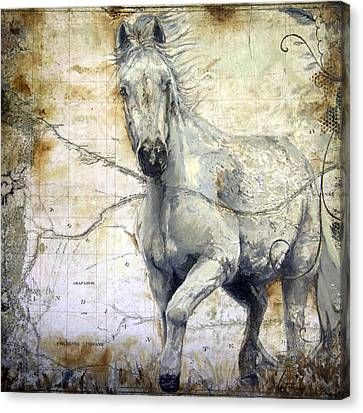 Whipsers Across The Steppe Canvas Print by Enzie Shahmiri