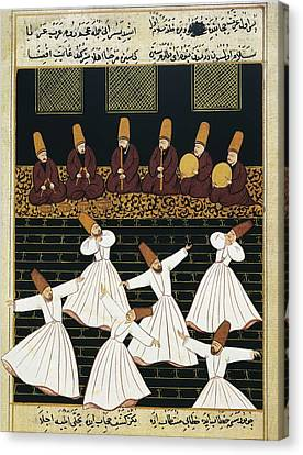 Whirling Dervishes 16th C.. Ottoman Canvas Print by Everett