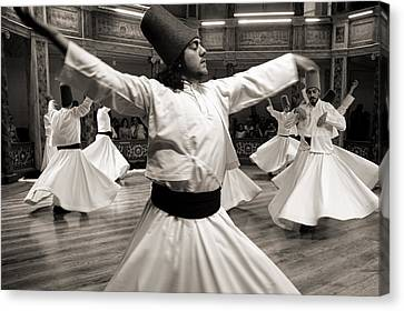 Whirling Dervishes Canvas Print by For Ninety One Days