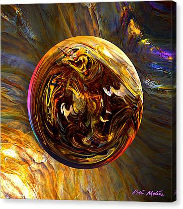 Whirling Wood  Canvas Print by Robin Moline
