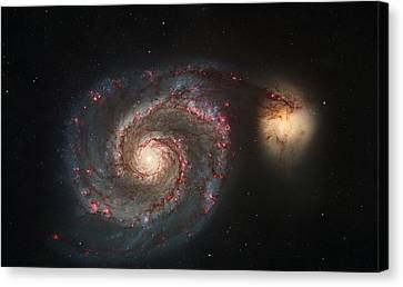 Whirlpool Galaxy M51 Canvas Print by Celestial Images