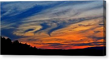 Whirlpool Sunset Canvas Print by Marianna Mills