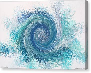 Whirlwind In Blue Canvas Print