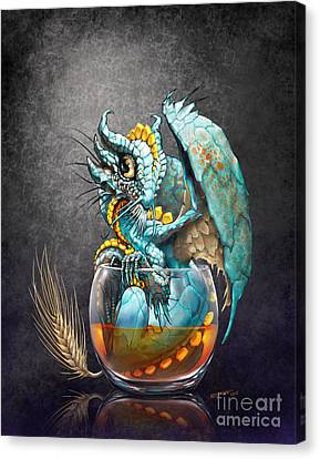 Whiskey Dragon Canvas Print by Stanley Morrison