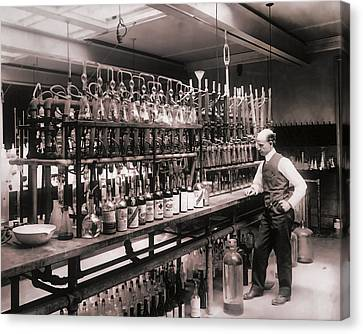 Test Canvas Print - Whiskey Test Lab  1914 by Daniel Hagerman