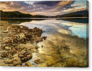 Canvas Print featuring the photograph Whiskeytown Lake Reflections by Randy Wood