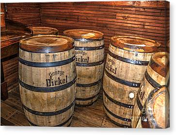 Whisky Barrels Canvas Print by Paul Mashburn