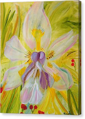 Canvas Print featuring the painting Whisper by Meryl Goudey
