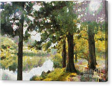 Whisper Through The Trees Canvas Print by Gee Lyon