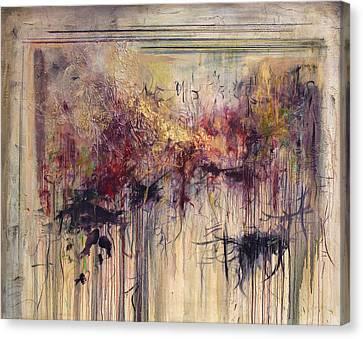Overhearing Canvas Print - Whispers by Jeannette Debonne