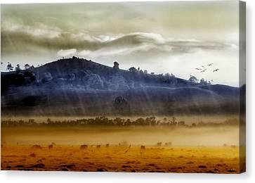 Whisps Of Velvet Rains... Canvas Print by Holly Kempe