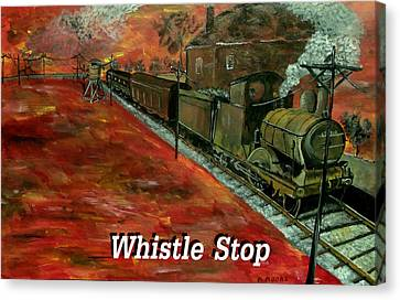 Whistle Stop Named Canvas Print by Mark Moore