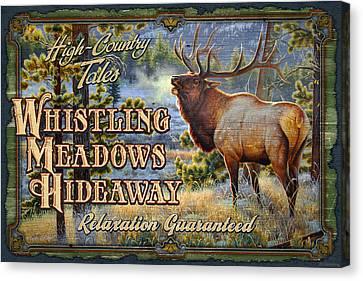 Whistling Meadows Elk Canvas Print