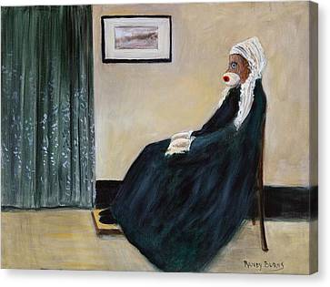 Canvas Print featuring the painting Whistlin Mother by Randol Burns