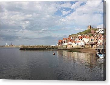 Canvas Print featuring the photograph Whitby Abbey N.e Yorkshire by Jean Walker