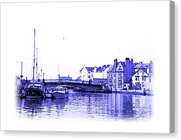 Whitby Harbor Canvas Print by Jane McIlroy