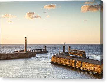Whitby Harbour North Yorkshire England Canvas Print by Colin and Linda McKie