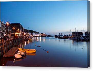 Whitby Harbour Canvas Print by Stephen Taylor