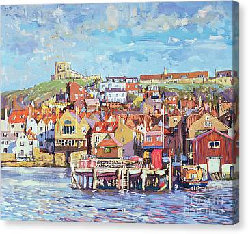 Port Town Canvas Print - Whitby by Martin Decent