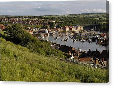 Openair Canvas Print - Whitby Town & Harbour, North Yorkshire by Tips Images
