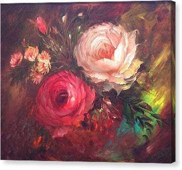 White And Red  Canvas Print